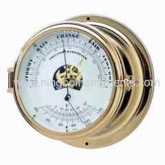 Nautical barometer and thermometer
