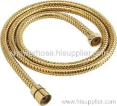 Stainless steel titanium plated shower hose