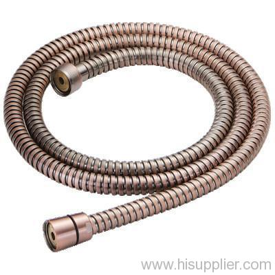 Stainless steel red antique plated shower hose