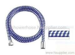 PVC dark blue silver thread shower hose
