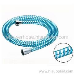 PVC cambridge blue silver thread shower hose