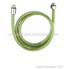 PVC green concave and convex shower hose