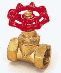 Brass stop valve