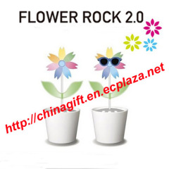 Flower Rock 2.0 LED lighting and speaker