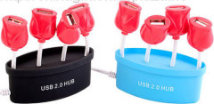Red Tulips USB Hub