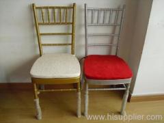 Steel chivari chair