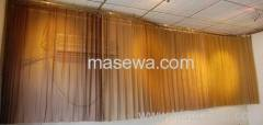 metallic home decor curved curtain