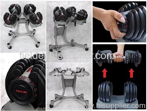 Bowflex Ajustable Dumbbell with Stand