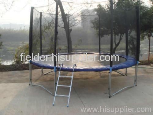 Big Round Trampoline with Safety Enclosure