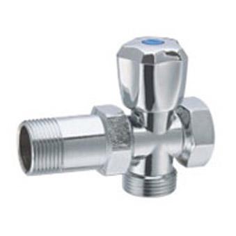 Cross angle valve