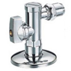 Angle valve with nut