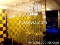 Golden color curtain