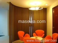 Lobby divider in hotel