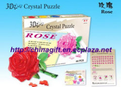 3D Crystal Puzzles - Rose