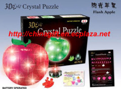 LED 3D Crystal Puzzles - Apple