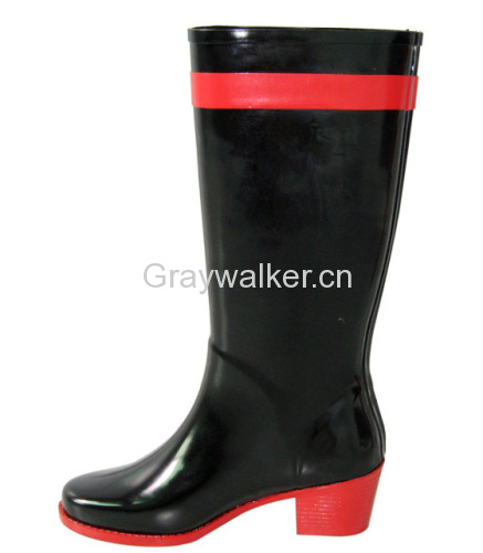 ladies' rubber rainboots