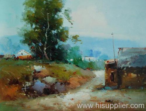 landscape, oil painting
