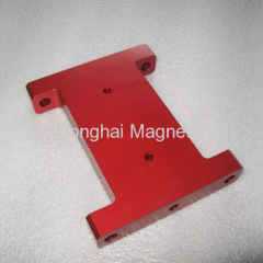 Aluminium Parts Red Color 7075-T651 , 6061-T651/T6.