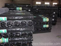 Hexagonal wire netting fencings