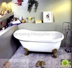 clawfoot cast iron bathtub
