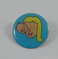 printed lapel pin