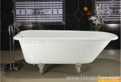 single roll top bathtub