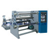 Adhesive sticker label slitter rewinder machine