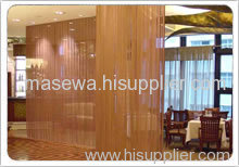 Woven mesh partition / curtain