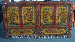 Tibetan style consoles 4 doors