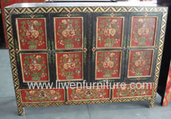 Tibetan painted buffet