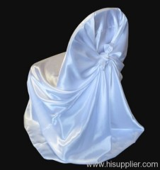 Satin White Wedding Banquet Chair Covers