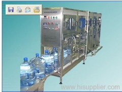3-6 gallon bottle washing filling capping machine