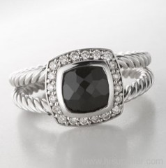11 black agate petite albion ring 925 silver rings 925 silver jewelry