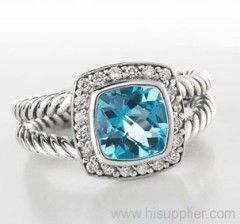 blue topaz ablion ring yurman ring yurman inspired jewelry fashion jewelry