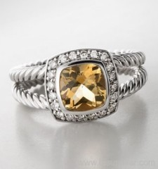 925 silver ring 7mm citrine petite ablion ring