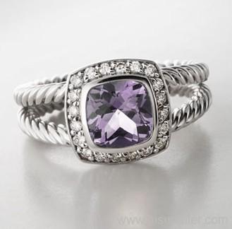 Gemstone Ring Designer Inspired Jewelry 7mm Lavender Amethyst Petite