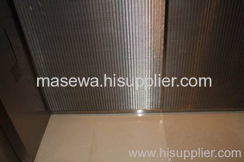 Metal fabric for lift car