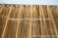 Golden color cloth curtain