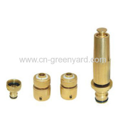 brass hose coupling set
