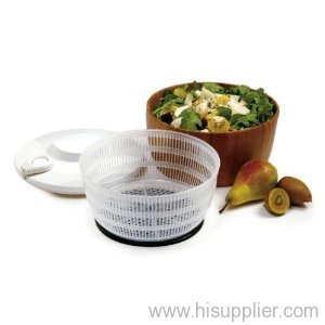 Eco Friendly Bamboo Salad Spinner