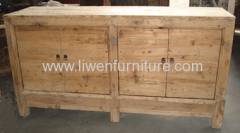 Antique elm wood consoles