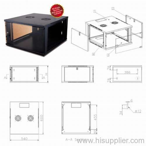 """19"""" SQ Single Section Wall mounted Cabinets"""