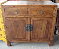 Old elm wood cabinets