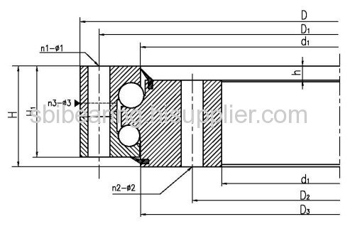 Ball-roller type slewing bearing
