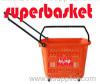 plastic wheel shopping basket