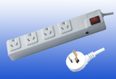Australia Type 4outlet Extension Socket