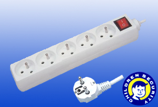 5way Extension Socket French