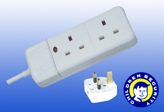 British type 2outlet Electric Socket