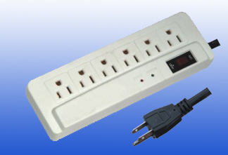 American type 6outlet electrical socket