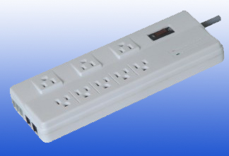 American type 8outlet wall sockets